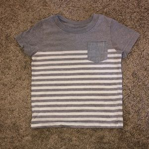 Light Gray and White Striped Cat and Jack Shirt